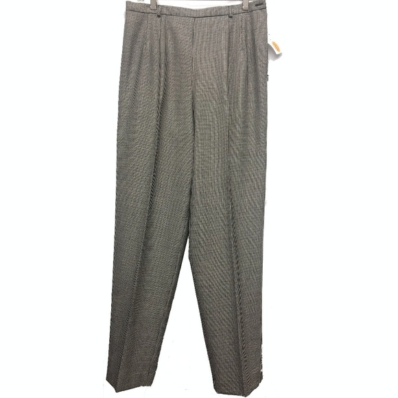 Talbots Pants - Talbots Wool Houndstooth Lined Dress Pants 12 NWT
